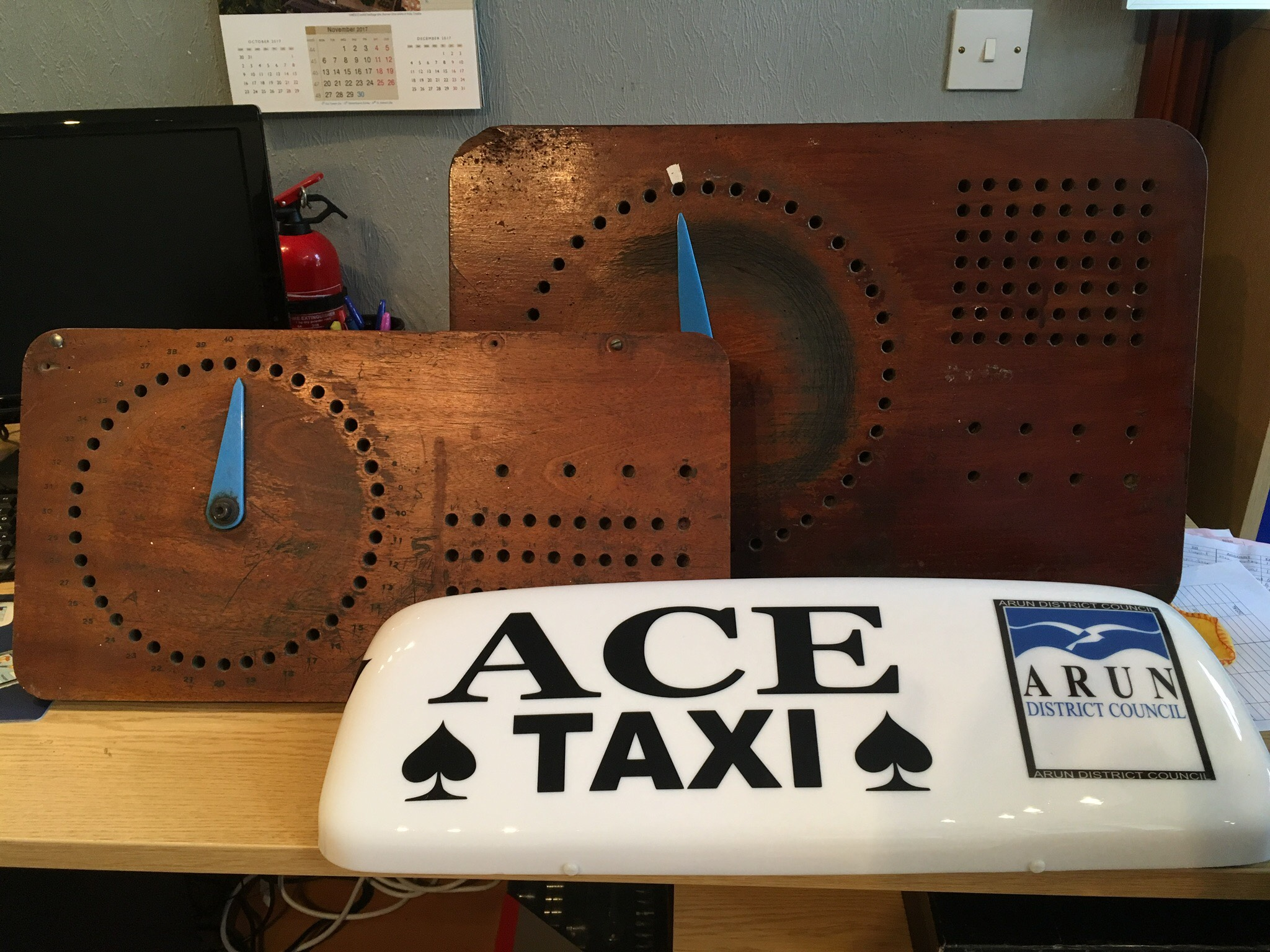 Ace Taxis Sign