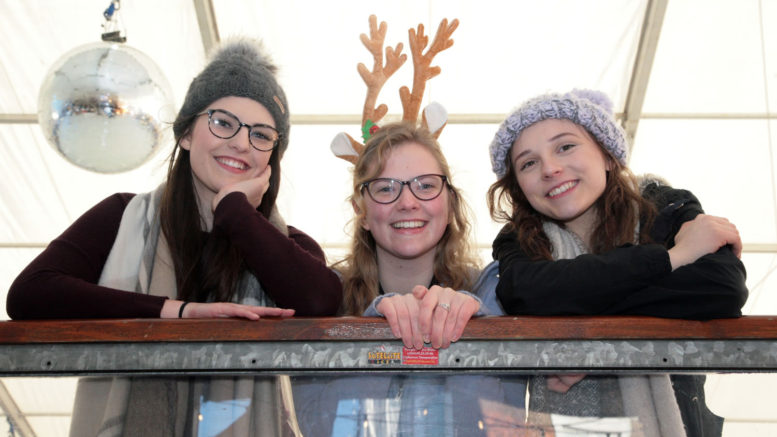 Olivia Dune Alice Fisher Hannah Goodyear Enjoying Ice Rink