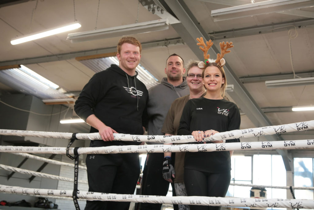 Peter Lamb Scott Pusey Kate Beard and Lisa Moulson VK Gym